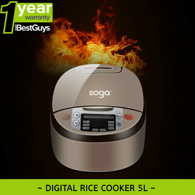 Brand New SOGA 8 in 1 900w Multi-functional Electric Rice Cooker 5L Tortilla