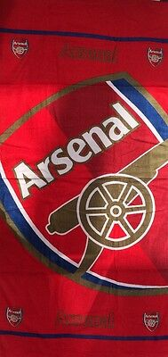 Arsenal FC Beach Towel 75cm X 145cm Good Size Towel 100% Cotton