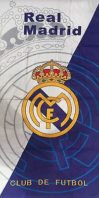 Real Madrid FC Beach Towel 75cm X 145cm Good Size Towel 100% Cotton