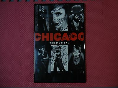 CHICAGO The Musical Broadway Revival Signed 1990's Poster/Window Card Framed