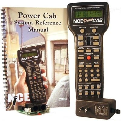 NCE Power Cab Starter Set with Dual Voltage Power Supply #5240025  Ver 1.65