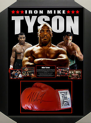 MIKE TYSON SIGNED FRAMED BOXING GLOVE - PSA DNA Authenticated The Real Deal