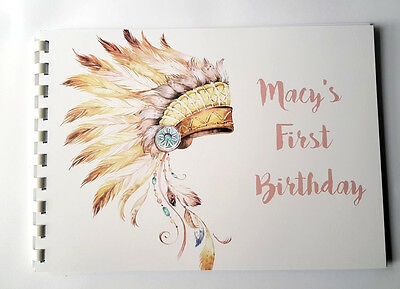 Tribal Guest Book, Polaroid Guest Book for 1st Birthday, Extra Option of Sign