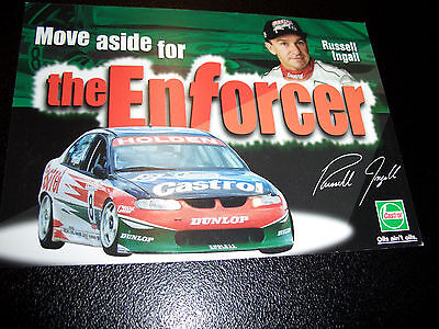 Holden  Vt Commodore Russell Ingall Racing Promo  Sticker 2000 Mint Condition
