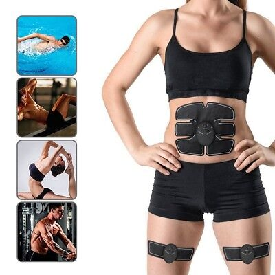 EMS Muscle Training Gear Body Six Pack Fit Set Pads Electrical Workout Fitness