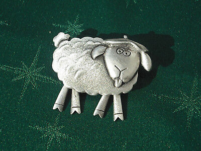 Wool or Sheep Lover's Brooch, Handcrafted in Fine Lead-Free Pewter
