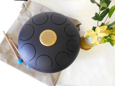 "WuYou 14"" Steel Extra Big Tongue Drum Handpan Tank, Best Sound Therapy, Free Bag"