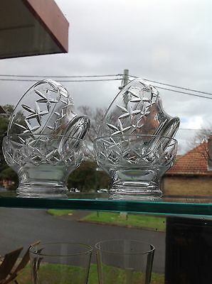 Stuart Crystal bowls 10.5cm high  set of 4 x GREENWICH Sydney