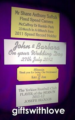 Engraving plate plaque 80mm x (your choice height) including engraving