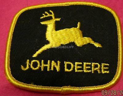 JOHN DEERE EMBROIDERED Patch IRON ON SEW ON 3 x 2 1/4 Inch Unused