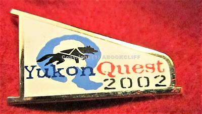 2002 YUKON QUEST WHITEHORSE to FAIRBANKS 1000 Mile DOG SLED RACE Lapel Pin Mint