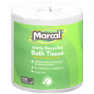 Marcal - Small Steps Recycled Bath Tissue, 2-Ply, 336 Sheets 48 Rolls