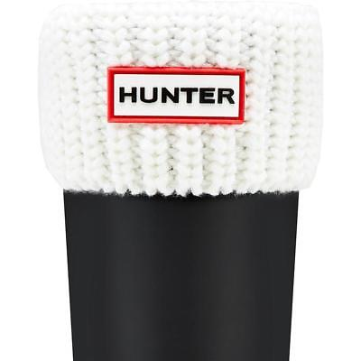 Hunter Kids Half Cardigan Boot Sock White Textile Infant Socks