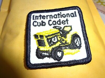 """international harvester CUB CADET patch,2""""x 2."""" new old stock SEW ON"""