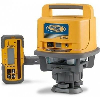 Spectra Precision Laser LL500 Exterior Self-Leveling Laser Level With HL700