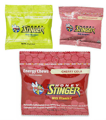 Honey Stinger Organic Energy Chews 3 Pack (Limeaid, Pink Lemonade, Cherry Cola)