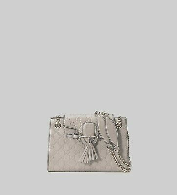17ee4a5a946 NWT GUCCI EMILY Guccissima Leather Small Chain Shoulder Bag