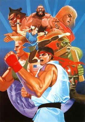 "002 Street Fighter - Fight Ryu Guile Ken ChunLi Game 24""x34"" Poster"