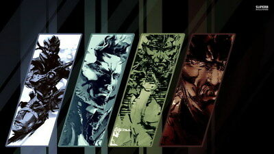 "012 Metal Gear Solid - Snake Rising v the Phantom Pain Game 42""x24"" Poster"