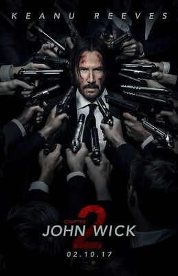 "011 John Wick Chapter 2 - Keanu Reeves 2017 Movie 24""x37"" Poster"