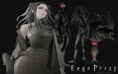 """025 Ergo Proxy - Science Fiction Fight Action Japan Anime 38""""x24"""" Poster"""