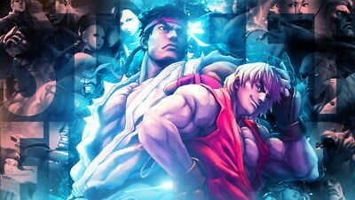 """014 Street Fighter - Fight Ryu Guile Ken ChunLi Game 42""""x24"""" Poster"""