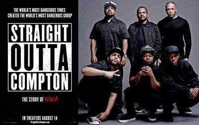 """012 Straight Outta Compton - Ice Cube MC Ren HIPHOP Moive38""""x24"""" Poster"""