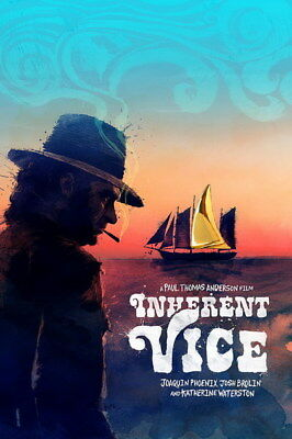 """017 Inherent Vice - Adventure Comedy Crime Movie 24""""x36"""" Poster"""