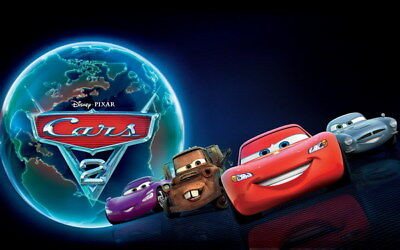 "033 Cars - Pixar Lightning McQueen Cartoon Movie 38""x24"" Poster"