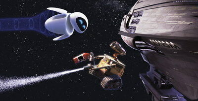 "010 WALL E - Pixar Eve Space Adventure Cartoon Movie 46""x24"" Poster"