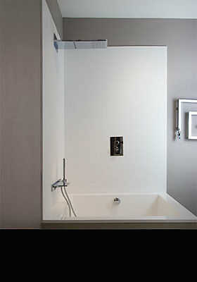 Pack of 3 bathroom and Shower wet wall panels - 2.4m x 1m white gloss PVC