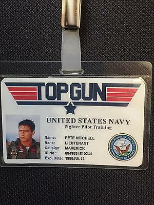 Top GUN  ID  BADGE,Fancy Dress,Stag Do, birthday party  Cos Play Halloween