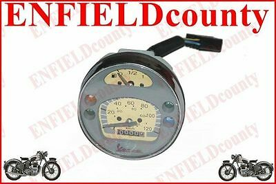 Brand Grey Face Vespa Scooter White Face 120 Kph Speedometer Px Lusso Lml @cad