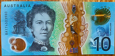 🌟2x RARE AUS pair new $10 ten dollar notes first & last prefixes AA and EA mint