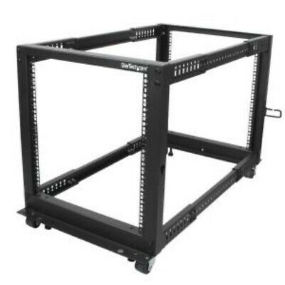 NEW STARTECH 4POSTRACK12U 12U ADJUSTABLE DEPTH 4 POST SERVER RACK....b.