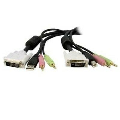 NEW STARTECH DVID4N1USB10 4-IN-1 USB DVI KVM SWITCH CABLE W/ AUDIO....b.