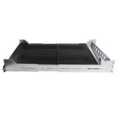NEW STARTECH UNISLDSHF19M 2U ADJUSTABLE VENTED SLIDING RACK SHELF....b.