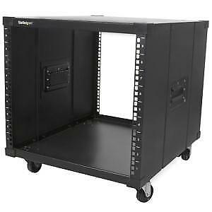 NEW STARTECH RK960CP PORTABLE SERVER RACK WITH HANDLES - 9U....b.