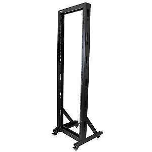 NEW STARTECH 2POSTRACK42 2-POST SERVER RACK WITH CASTERS - 42U....b.