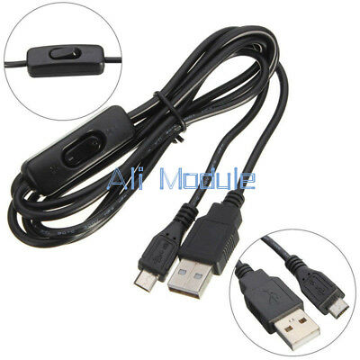 Micro USB Power Supply Charging Cable With ON/OFF Switch 1.5m For Raspberry Pi K