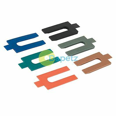 100Pk Assorted Plastic Packers 1mm 2mm 3mm 4mm 5mm And 6mm Colour Coded