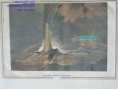 2195-Seefahrt-Ship--EDDYSTONE LIGHTHOUSE-L-1850
