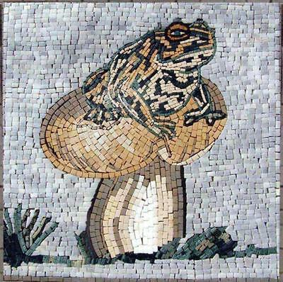 Mosaic Art Designs - Frog on Mushroom