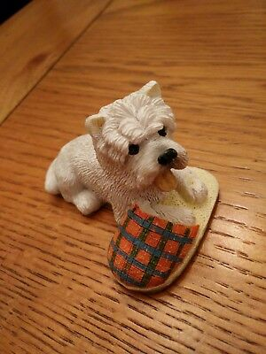Vintage Regency Fine Arts Westie Missing His Master [With Slipper]