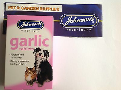 JOHNSONS GARLIC TABLETS FOR DOGS & CATS -NATURAL FLEA PROTECTION x  40