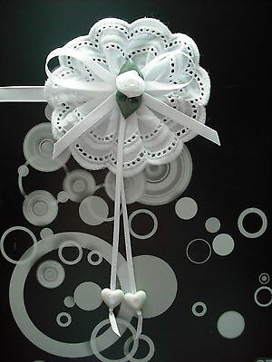 Silver Cross Prams Magnetic Baby Corsages ~ Decorations In White,pink & Blue