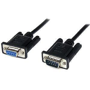NEW STARTECH SCNM9FM1MBK 1M BLACK DB9 RS232 NULL MODEM CABLE F/M....b.
