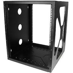 NEW STARTECH RK1219SIDEM 12U 19IN WALL MOUNT SIDE MOUNT OPEN RACK....b.