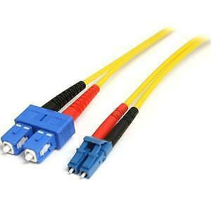 NEW STARTECH SMFIBLCSC7 7M SM DUPLEX FIBER PATCH CABLE LC TO SC....b.