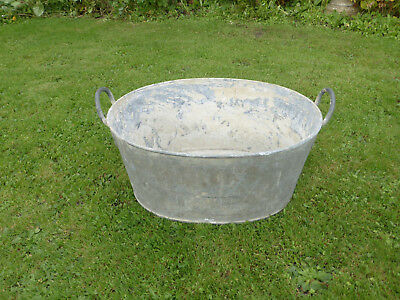 Heavy Duty Vintage Tin Bath/ Bowl.Ideal Small Pond/Drinks Cooler or Planter.